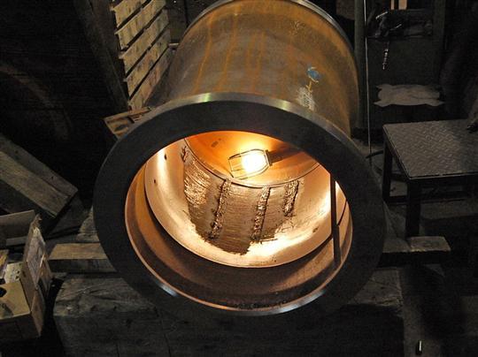 鋳鉄管の補修部分