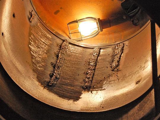 鋳鉄管の補修部分(拡大)